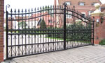 Steel electric gate